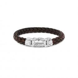 Buddha to Buddha Armband leer 126BR E+ 20cm  Mangky small leer bruin - 60383