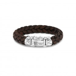 Buddha to Buddha Armband leer bruin Mangky E+ 18cm - 60386