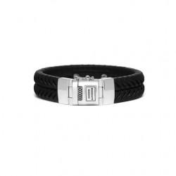 Buddha to Buddha komang armband leer zwart F 21cm - 54146