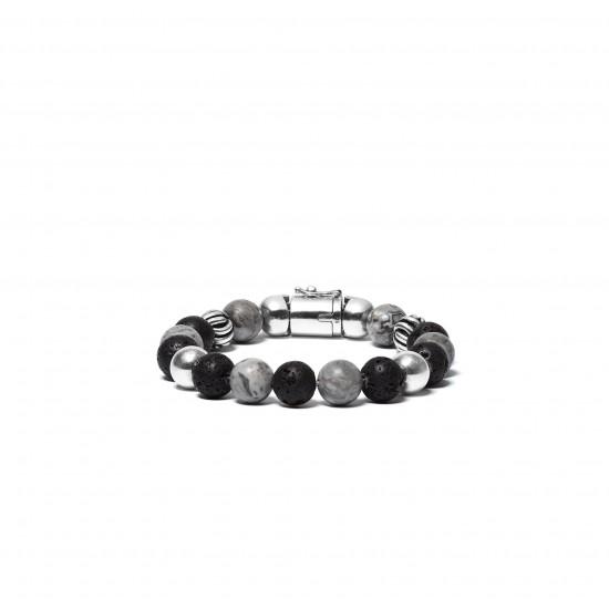 Buddha to Buddha bead mix grey 188MG F 21cm - 58782