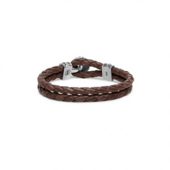 Buddha to Buddha Armand ben Leather knot Brown 220BR E 19cm - 59138