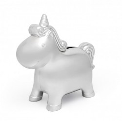 Verzilverde spaarpot Unicorn - 60609