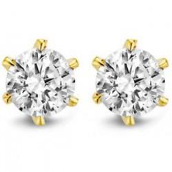 Moments oorstekertjes met zirkonia zilver/ goud verguld 5mm - 54137
