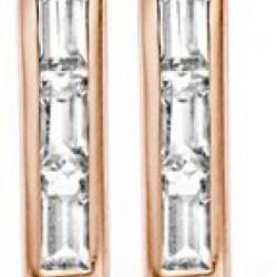 Moments oorstkers met zirkonia zilver / rose verguld - 54840