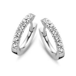 moments zilveren oorbellen met zirkonia - 60342