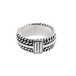 Buddha to  Buddha Chain Texture Ring 788 18 - 59936