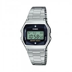 Casio retro horloge met echte diamant A158WEAD-1EF - 58243