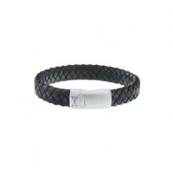 AZE Armband 19.5 cm iron jack brown leer - 60739