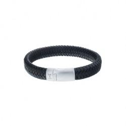 AZE Armband 19.5cm/ M  leer Iron John black - 60670