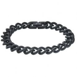 AZE Armband 19.5 cm Gourmette satin - noir- - 60710