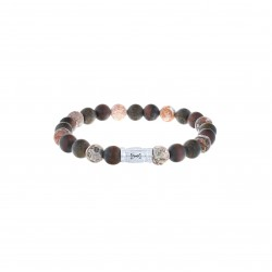 AZE Armband 17.5mm beads 8mm Monte Rosa. - 60704