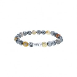 AZE Armband 17.5cm beads 8mm Mount Marble - 60696