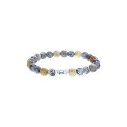 AZE Armband 17.5cm beads 8mm Mount Marble - 60696