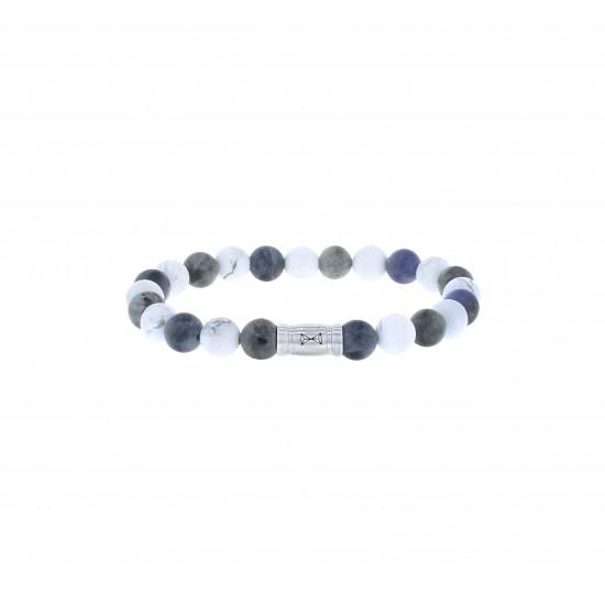 AZE Armband 17.5cm beads 8mm Matterhorn - 60700
