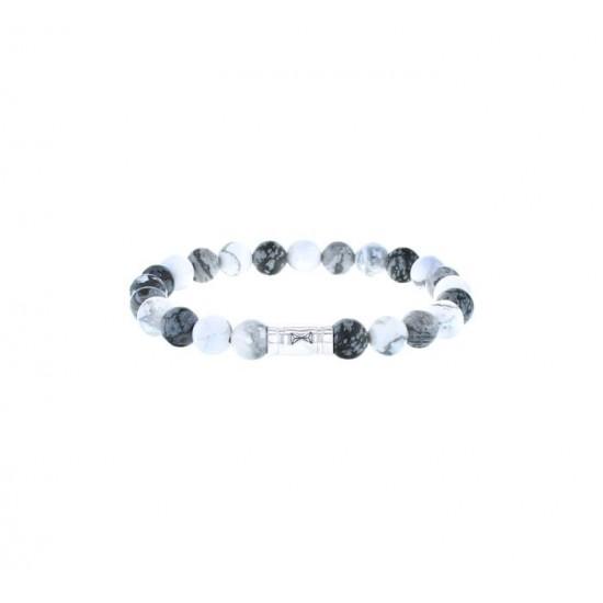 AZE Armband 17.5 beads 8mm Mont Blanc - 60698