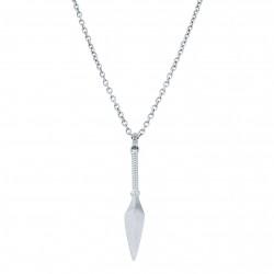 AZE collier 80cm  AZ-NL002-A-080 spear - Inox staal - 60677