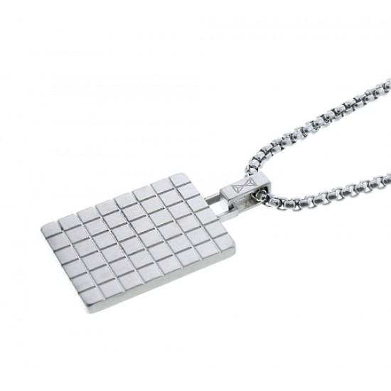 AZE collier 70cm, square AZ-NL004-A-070 staal - 60682