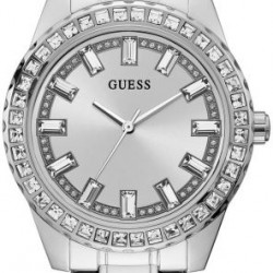 GW0111L1 guess dames horloge staal met steentjes - 60311