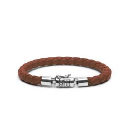 Buddha to Buddha Armband Ben XS rond leer bruin 19cm - 57460