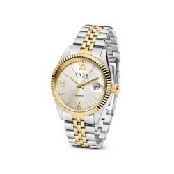 VNDX Amsterdam horloge Dare devil xl tt silver gold  MT43008-02 - 60280
