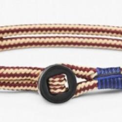 PIG & HEN Don Dino armband Bordeaux/ Sand L 20cm - 59237