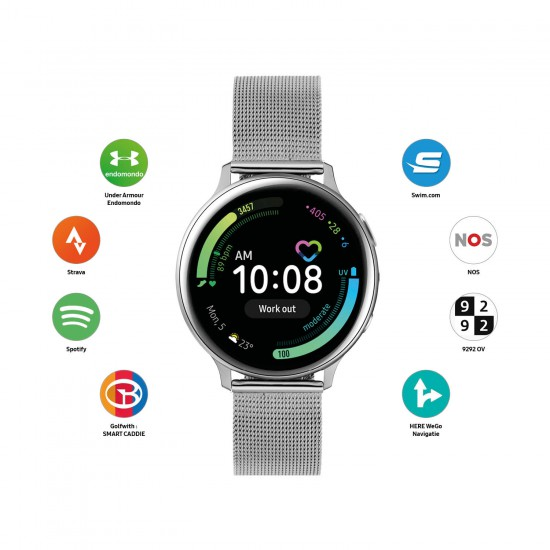 Samsung Galaxy smart watch active2 40mm staal mesh SA.R830SM - 60120