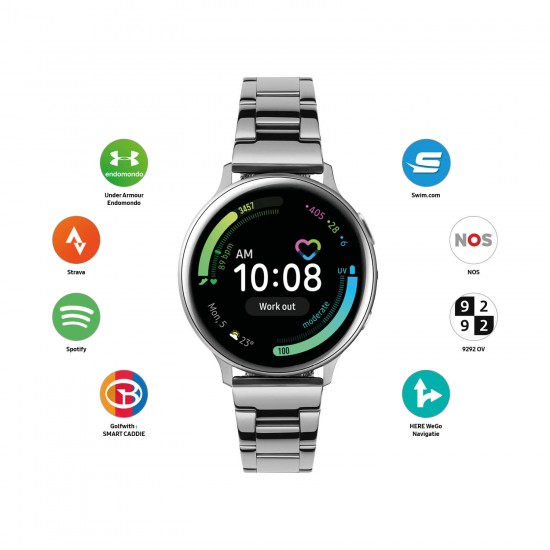 Samsung smart watch Galaxy active2 40mm staal schakel SA.R830SS - 60117