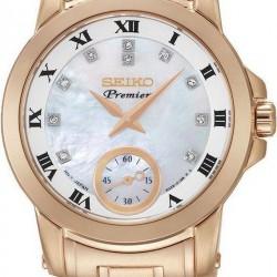 seiko horloge Premier met diamant op de wijzerplaat. SRKZ58P1 - 50856