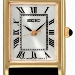 sXGN56P1 Seiko dames horloge, leren band - 4909