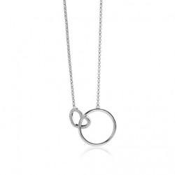 Zinzi collier rond/hart met zirk 40/45cm - 57165