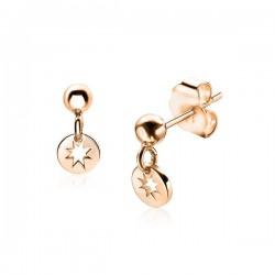 Zinzi zilveren oorsteker rose verguld hang zio1623R - 57153