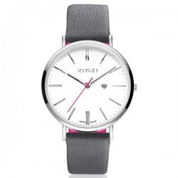 zinzi horloge retro staal met roze band INCL GRATIS ARMBANDJE - 53902