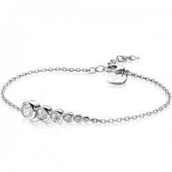 zilveren armband zinzi met aflopende ronde zirconia's zia2053 - 59998