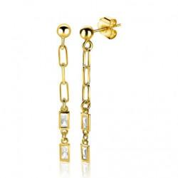 zilveren oorbellen zinzi goud verguld hangend met zirk zio1993G - 60211